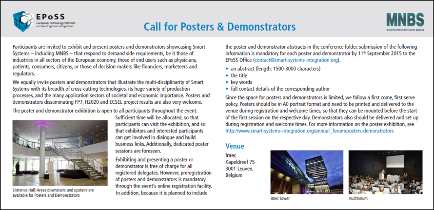 Flyer EPoSS-MNBS 2015_Call for Posters and Demonstrators.png