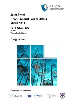 EPoSS Annual Forum 2018 Programme Cover